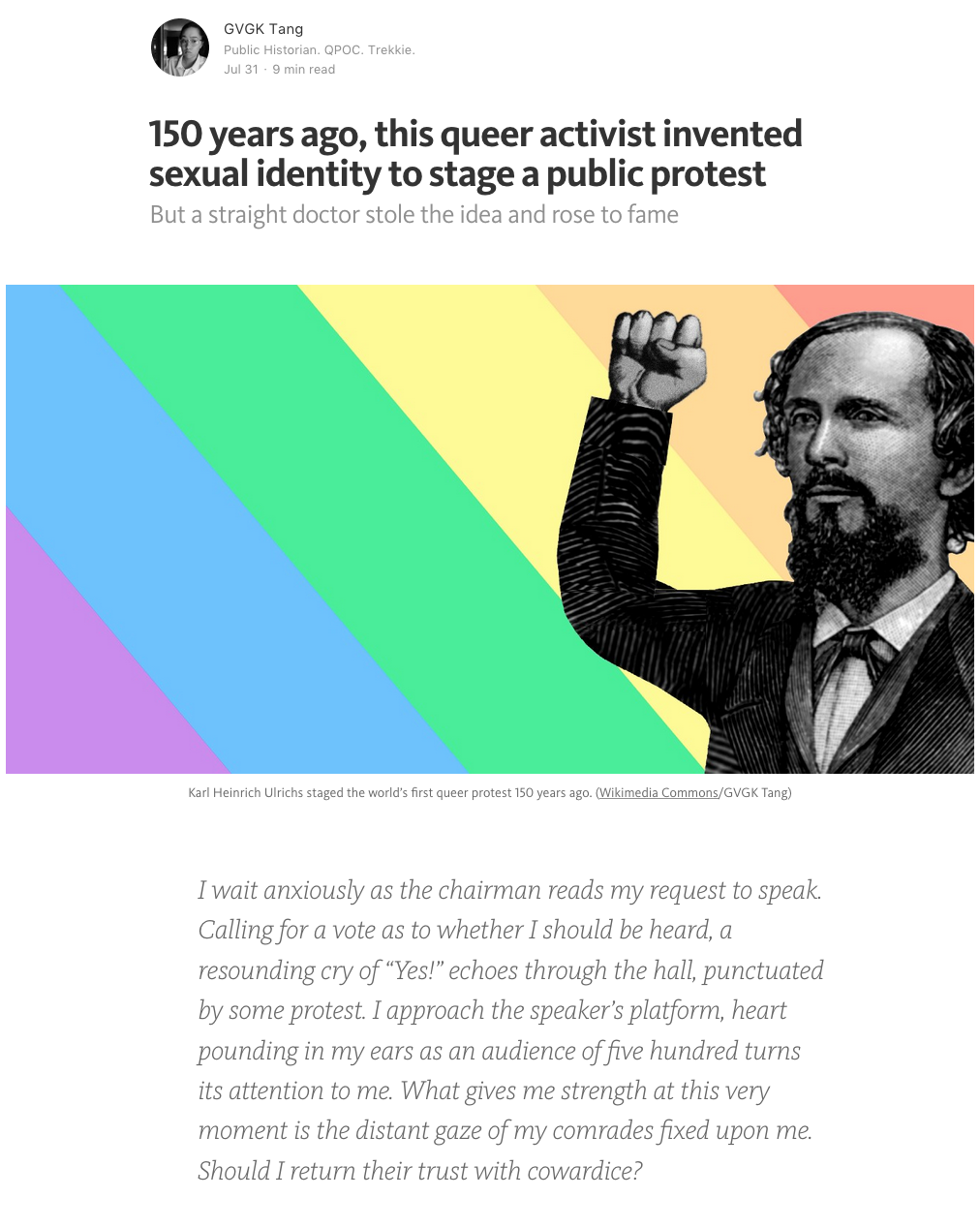 150 years ago, this queer activist invented sexual identity to stage a public protest. But a straight doctor stole the idea and rose to fame.